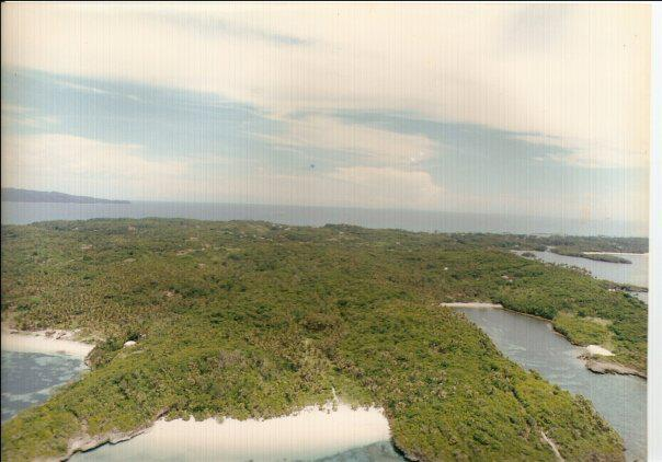 Aerial shot of heavily forested Old Boracay in the 1980s
