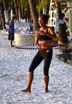 Hula hoop on the beach