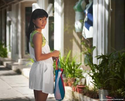 A short summer dress in lightweight fabric