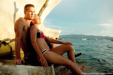 Model Anya Kharlamova and Misha Ivakin. Photography Dairy Darilag. Location: Boracay West Cove.