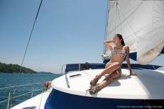 Model Cherry Ann Panes. Photography Katia Kalyani. Location Mahal Cruise Boracay.