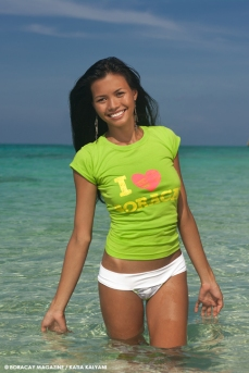 Model Cookie Bella. Photography Katia Kalyani. Location Boracay Puka Beach.