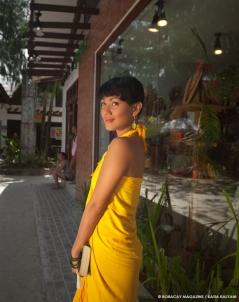 yellow sarong