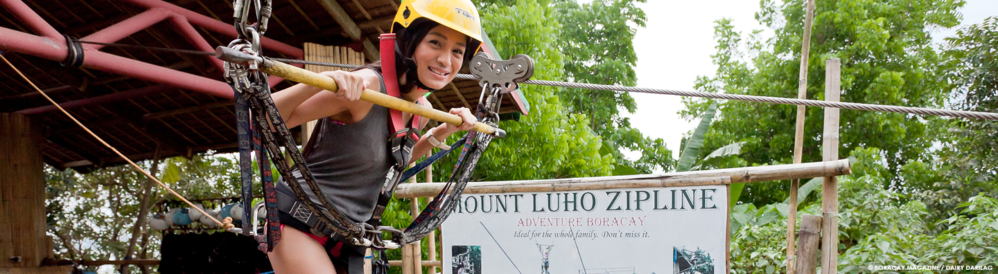 boracay zipline at Mount Luho