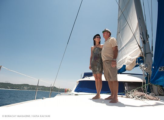 Steve and Lilyan of D'Boracay Sailing Experience