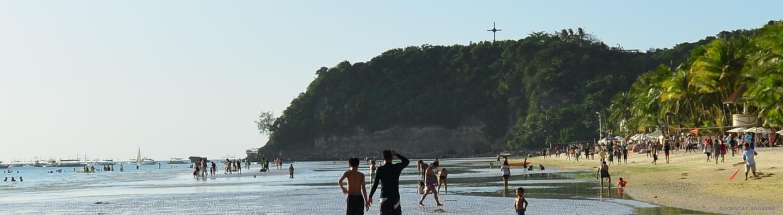cross on a hill in boracay