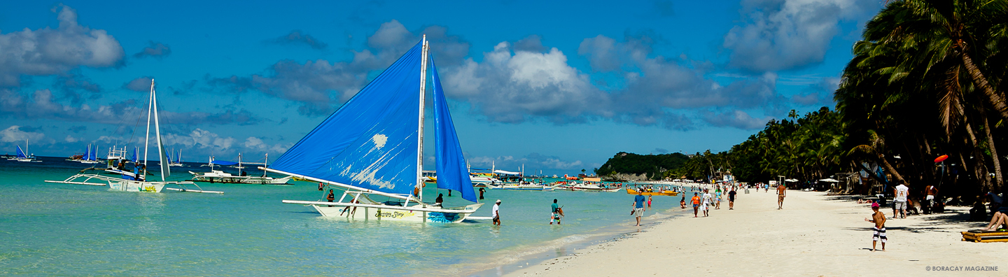 Traditional sailboat in Boracay, Philippines