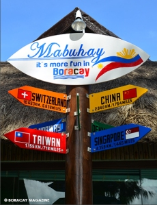 cool signage at Tourist Center Boracay