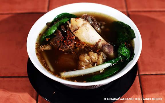 Smoke Resto Boracay's bestseller bulalo or beef soup