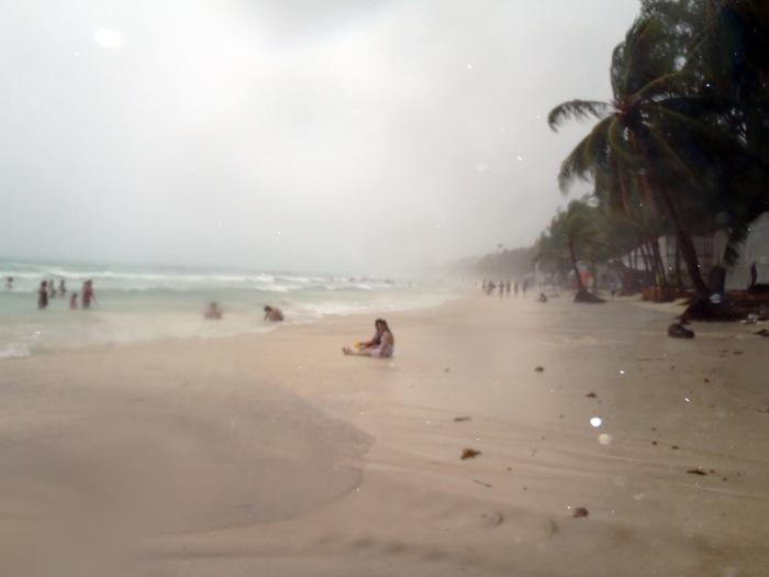 Boracay Beach in Wet Season