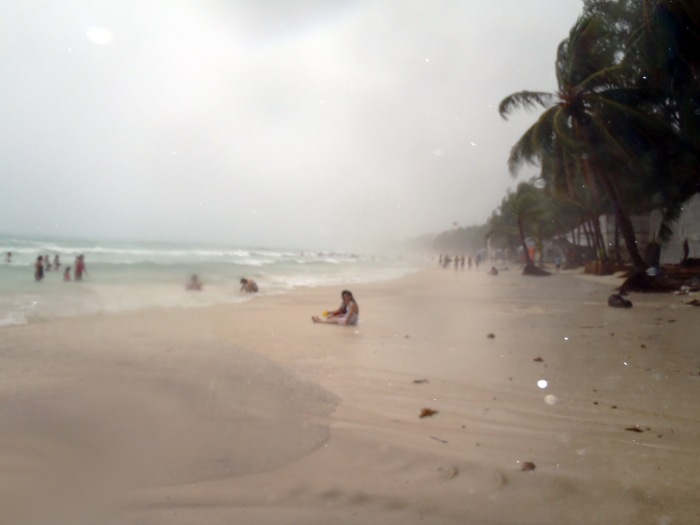 Boracay Beach in Wet Season