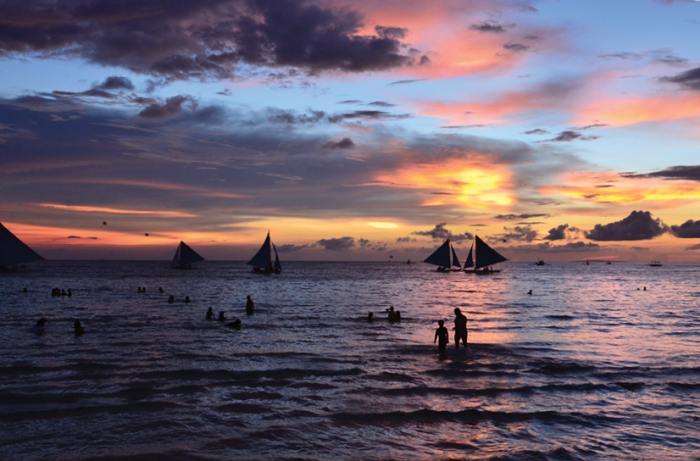 Monsoon sunset Boracay
